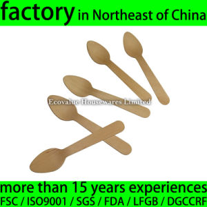 "4 1/3"" Wood Disposable Coffee Tea Spoon 11cm 110mm Spoon"