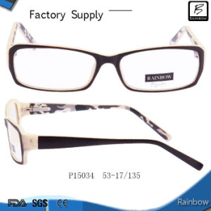 New Design China Wholesale Bright Color Optical Plastic Eyeglasses (P15034)