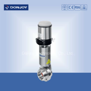 Sanitary Ss 304 Pneumatic Butterfly-Type Ball Valve with Il-Top Positioner pictures & photos