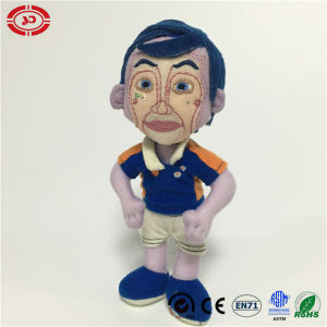 Man Figure Blue Hair Nylon Material CE Stuffed Doll Toy pictures & photos