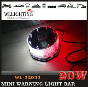 Red White Strobe Mini Lightbars for Fire Trucks