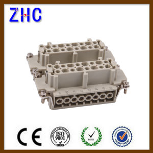 He Series Male and Female Heavy Duty Cable Screw Terminal Block Connector pictures & photos