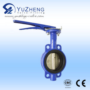 Cast Iron Wafer Butterfly Valve with Handle pictures & photos