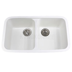 Chinese Factory Direct Solid Surface Double Sinks Kitchen Sink ...