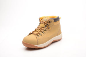 Nubuck Leather Safety Shoes with Suede Tongue (LZ5004) pictures & photos