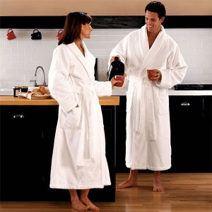 Shawl Collar Cotton Luxury Hotel Bathrobe Manufacurer in China (DPH7429) pictures & photos