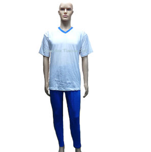 Casual Unisex Short Sleeve Top& Long Pant/Sleepwear (V1704) pictures & photos
