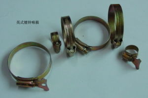 Carbon Steel Hose Clamp of British Type pictures & photos