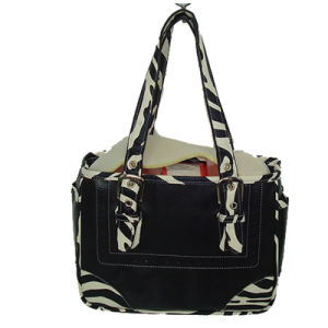 Zebra Pattern PU Handbag with Foam Padded