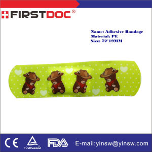 72X19mm PE Cartoon Bear Waterproof Adhesive Bandages pictures & photos