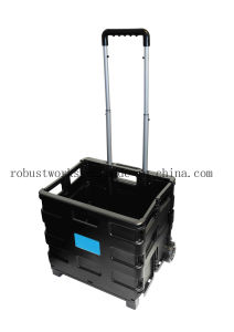 Folding Plastic Shopping Cart (FC401KP-1) pictures & photos