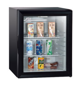 Auto Defroster Glass Door Refrigerator Showcase Hotel Home Appliance Xc 32