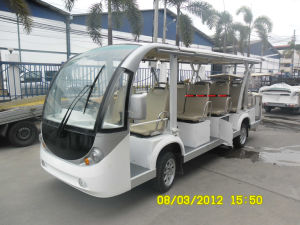 14 Seat Electric Tourist Bus Electric Shuttle Bus Mini School Bus pictures & photos