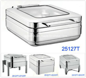 Half Size Induction Chafing Dish with 4.0LTR Food Pan (25127T) pictures & photos