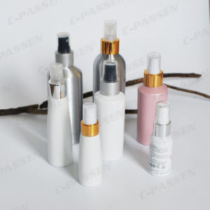 Custom White Aluminum Spray Bottle with White Sprayer Pump (PPC-ACB-048) pictures & photos