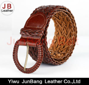 Latest Fashion Women Bonded Leather Braid Belt pictures & photos