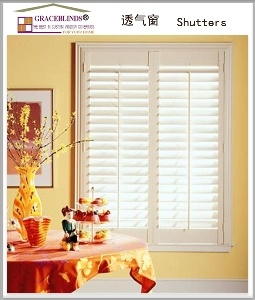 L Frame Real Basswood 64 mm Blade Interior Decor Window Plantation Shutters pictures & photos
