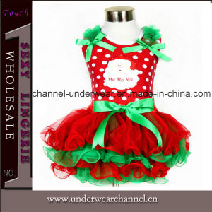 2015 Wholesale Santa Christmas New Year Kid Party Dress (TYG0237) pictures & photos