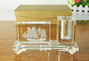 Crystal Business Set for Corporate Gifts Crystal Pen Holder pictures & photos