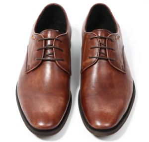 322419e34a0 China Bespoke Mens Brown Lace up Dress Shoes Men Formal Shoes ...