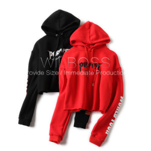 American Orders Black Autumn/Winter Styles Extra Thick and Warm High-Waisted Hoodies Grey