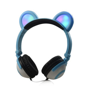 New Model Wired Custom Glow LED Light Panda Headphones pictures & photos