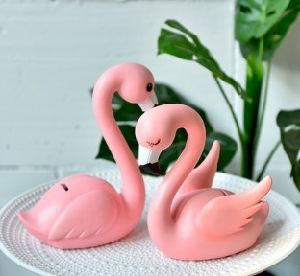 China Lovely Flamingo Coin Bank Polyresin Craft Gift And Decoration