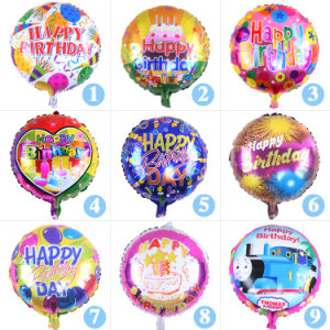 50PCS Pack 18 Colorful Happy Birthday Helium Foil Balloons Letter Balloon Party Decoration Aluminum