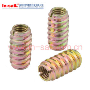 No-Flanged Threaded Insert for Wood Screw Furniture Hardware pictures & photos