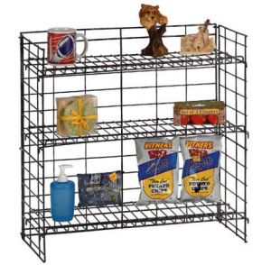Medium Duty Stackable Baskets Metal Wire Display Rack