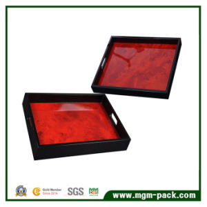Wholesale Custom High Glossy Lacquered Wooden Tray pictures & photos