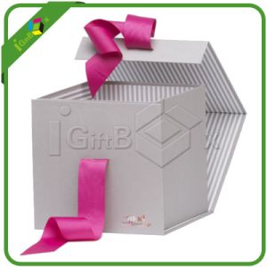 New Design Folding Gift Box with Ribbon pictures & photos