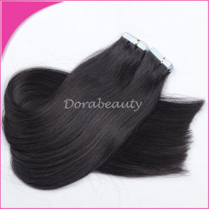 Wholesale Brazilain Human Virgin Hair Tape Hair Extension pictures & photos
