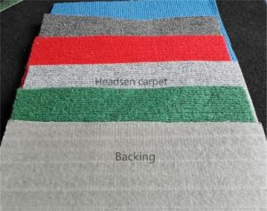 Non Woven Rib Exhibition Carpet, Velour Carpet with Latex Backing