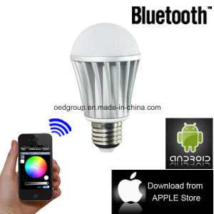 E27 Bluetooth for iPhone Control WiFi Smart RGB LED Bulb pictures & photos