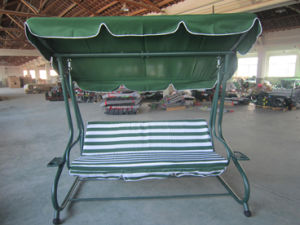 China 3 Seat Garden Swing Chair Bed With Cup Holders Mw11020