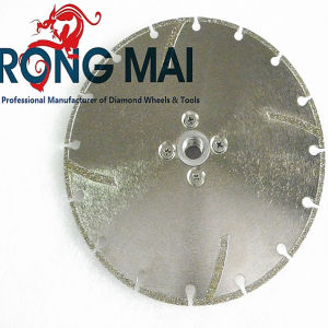 Electroplated Circular Diamond Segment Cutting Saw Blade with Flange