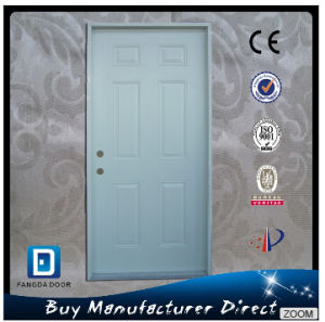 Hot Selling Affordable American Prehung Exterior Steel Panel Front Entry Door pictures & photos