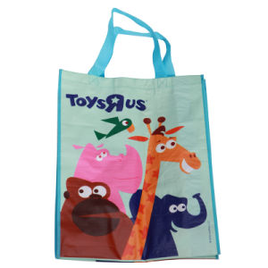 Nice Blue Cartoon Ppwoven Shopping Bag