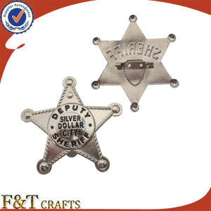Cheap Metal Pin Badges with Plating Silver pictures & photos