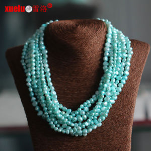 Multistrands Green Baroque Cultured Pearl Necklace Wholesale (E130113) pictures & photos