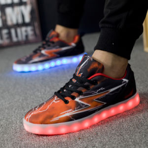 Flashing Lights Shoes; LED Light Shoes; Flashing LED Shoes with USB Charger
