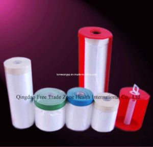 550mmx22mx10mic Pre-Taped Masking Film for Cars pictures & photos