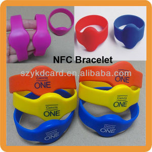 13.56MHz Fuan1108 Silicone Nfc Wristband