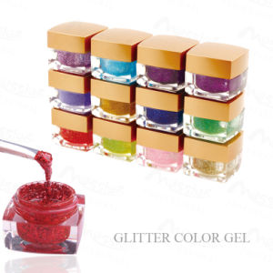 Professional Use Nail Art 8g Rich Colors Soak off Glitter Dust Color Painting UV Gel