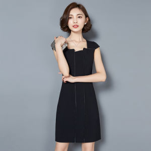 Wholesale Women Fashion Career Dresses Short Sleeves Office Dresses pictures & photos