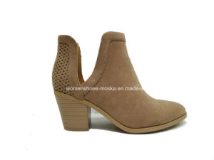 New Arrival Lady Fashion Women Chunky Heel Ankle Casual Boots