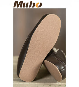 Men′s Genuine Leather Sheepskin Moccasin Slippers pictures & photos