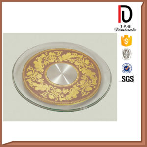 Popular High Quality Wired Glass Lazy Susan (BR-BL017) pictures & photos