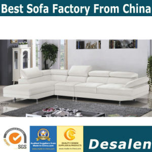 White Color Modern Home Furniture Factory Supplier Futon Leather Sofa (A10)